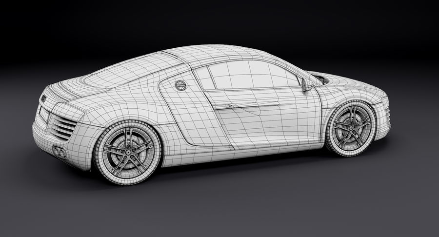 Audi R8 royalty-free 3d model - Preview no. 31