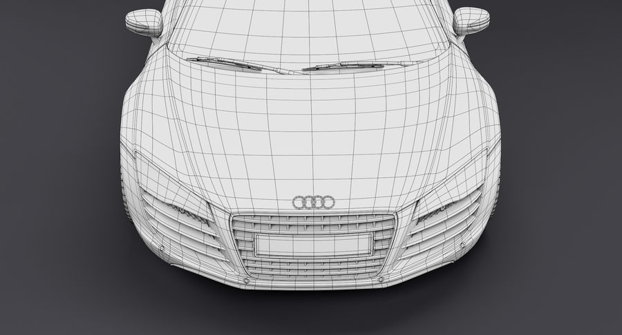 Audi R8 royalty-free 3d model - Preview no. 42
