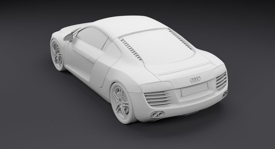 Audi R8 royalty-free 3d model - Preview no. 26