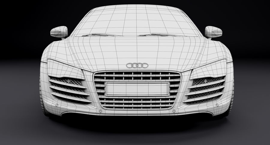 Audi R8 royalty-free 3d model - Preview no. 37