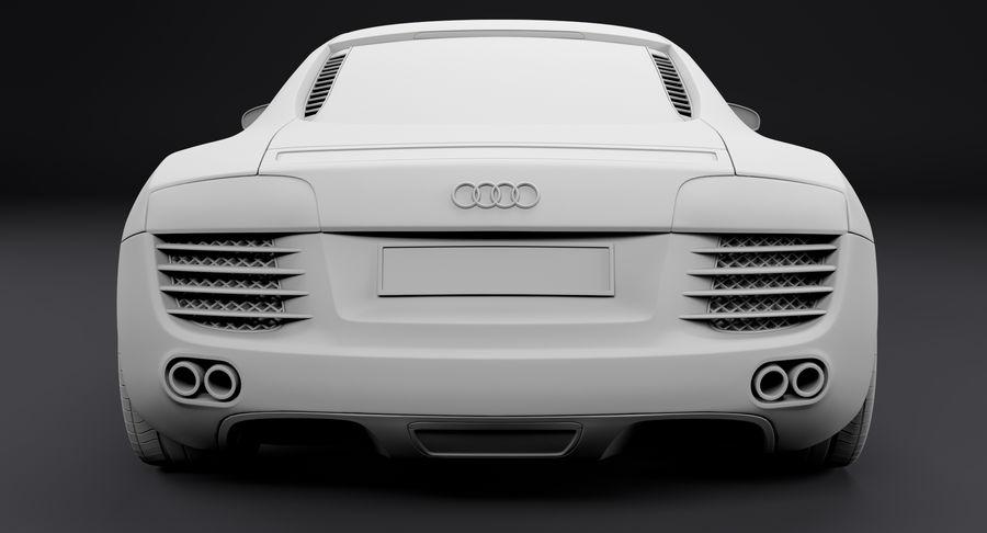 Audi R8 royalty-free 3d model - Preview no. 25