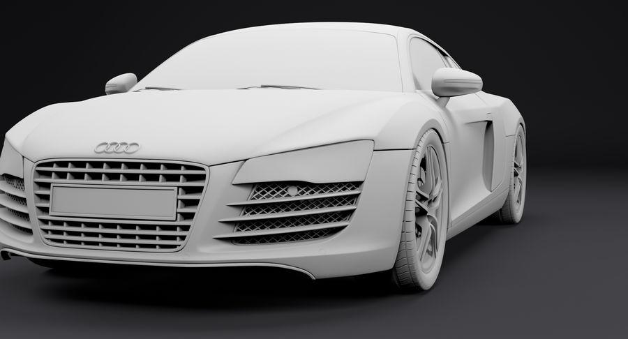 Audi R8 royalty-free 3d model - Preview no. 20