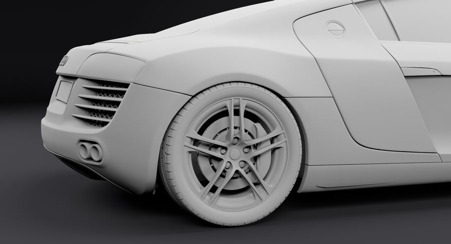 Audi R8 royalty-free 3d model - Preview no. 22