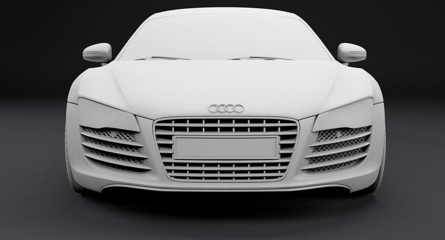 Audi R8 royalty-free 3d model - Preview no. 24