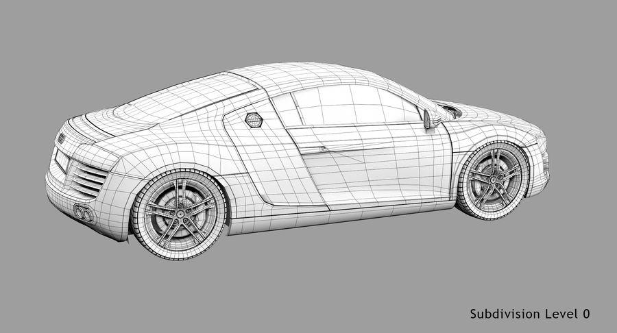 Audi R8 royalty-free 3d model - Preview no. 46