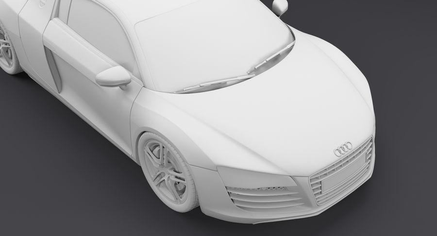 Audi R8 royalty-free 3d model - Preview no. 28