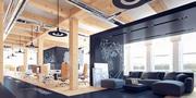 Kreative Büroinnenraumszene 3d model