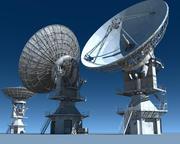MUOS Satellietschotel 3d model
