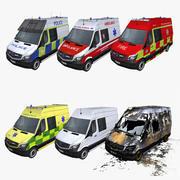 Коллекция аварийных транспортных средств 3d model