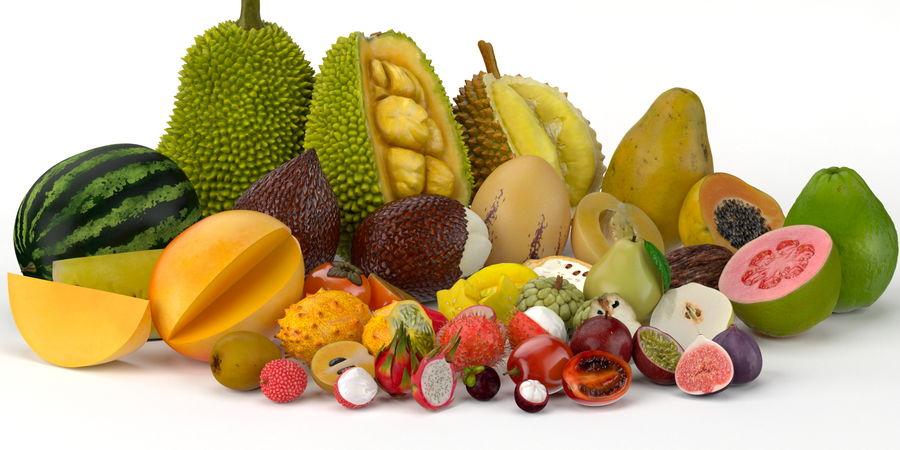 NICEMODELS Том 5 - Экзотические фрукты royalty-free 3d model - Preview no. 2