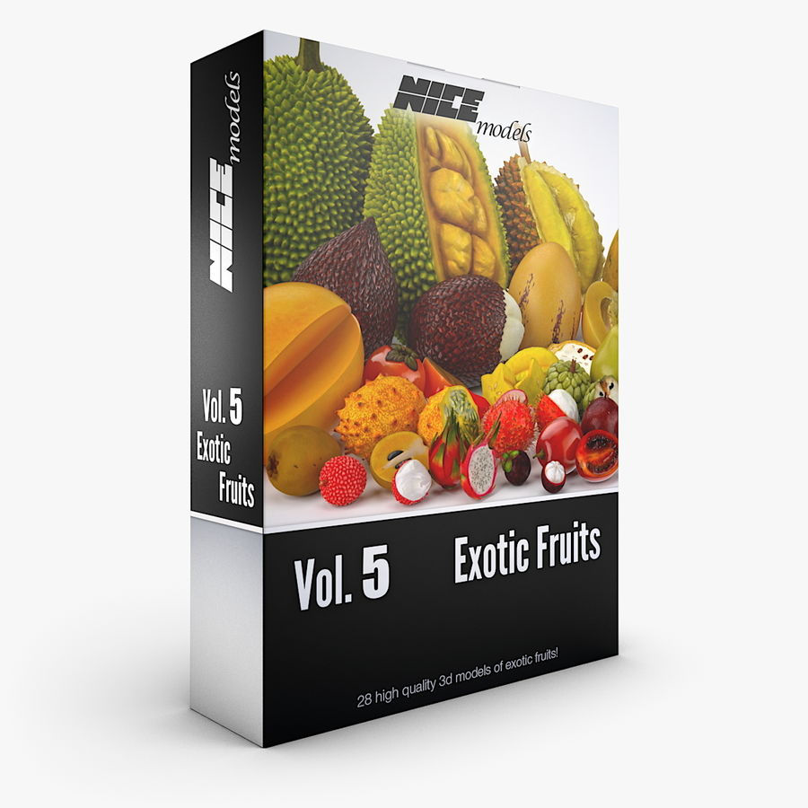 NICEMODELS Том 5 - Экзотические фрукты royalty-free 3d model - Preview no. 1