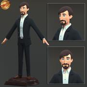 Homem de negocios 3d model