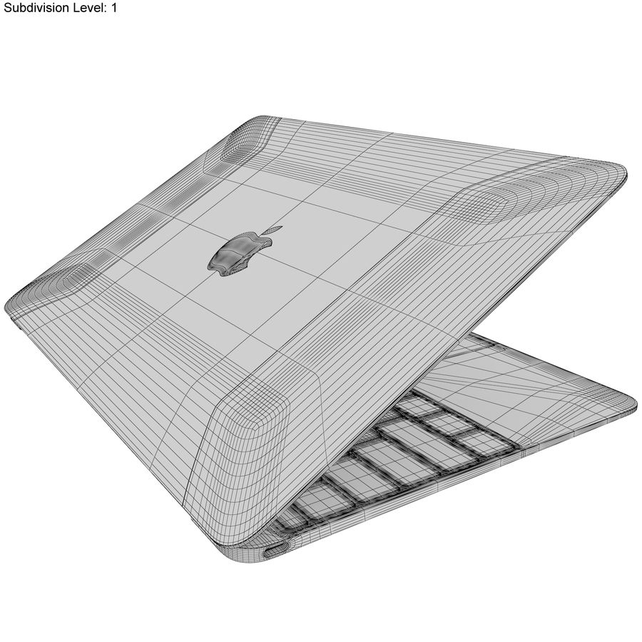 Apple MacBook 2015 Alla färger royalty-free 3d model - Preview no. 51