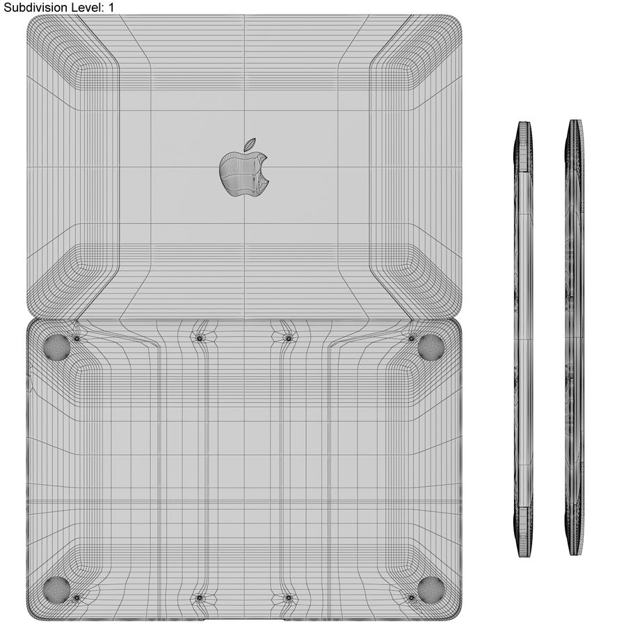 Apple MacBook 2015 Alla färger royalty-free 3d model - Preview no. 47