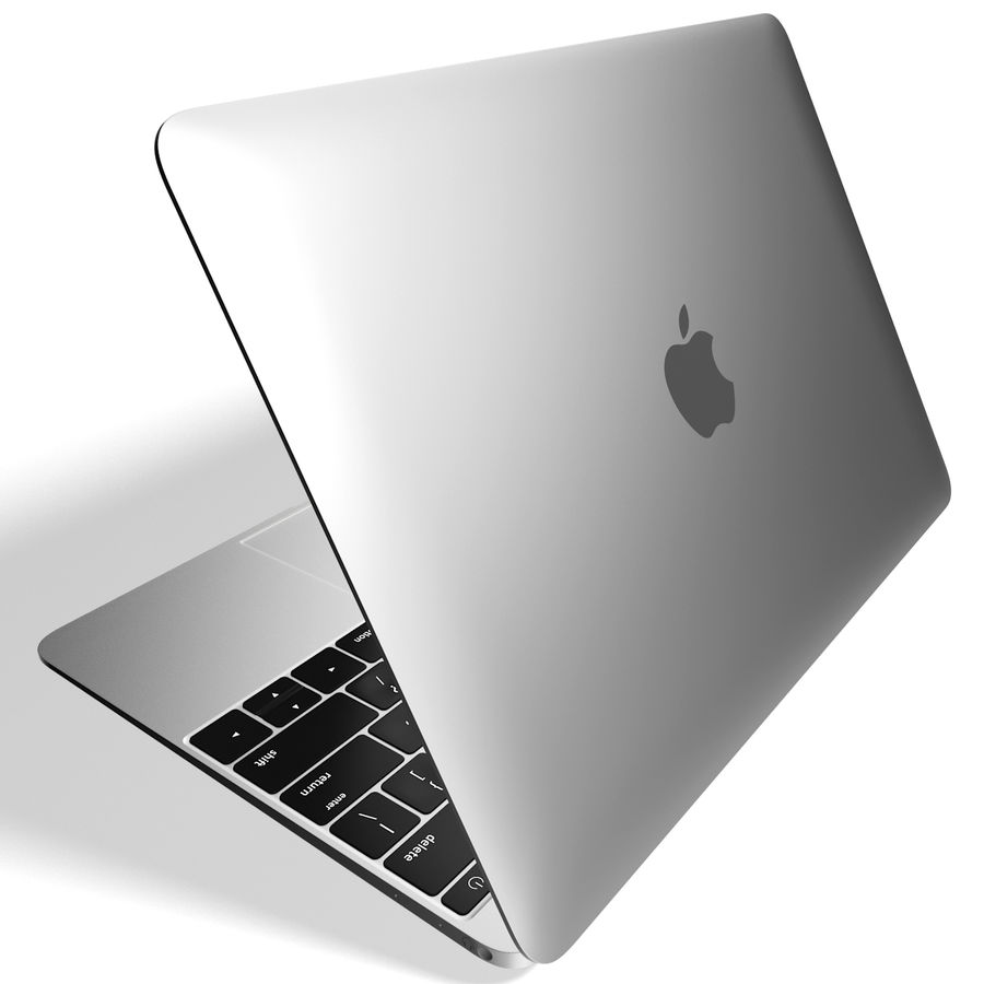 Apple MacBook 2015 Alla färger royalty-free 3d model - Preview no. 35