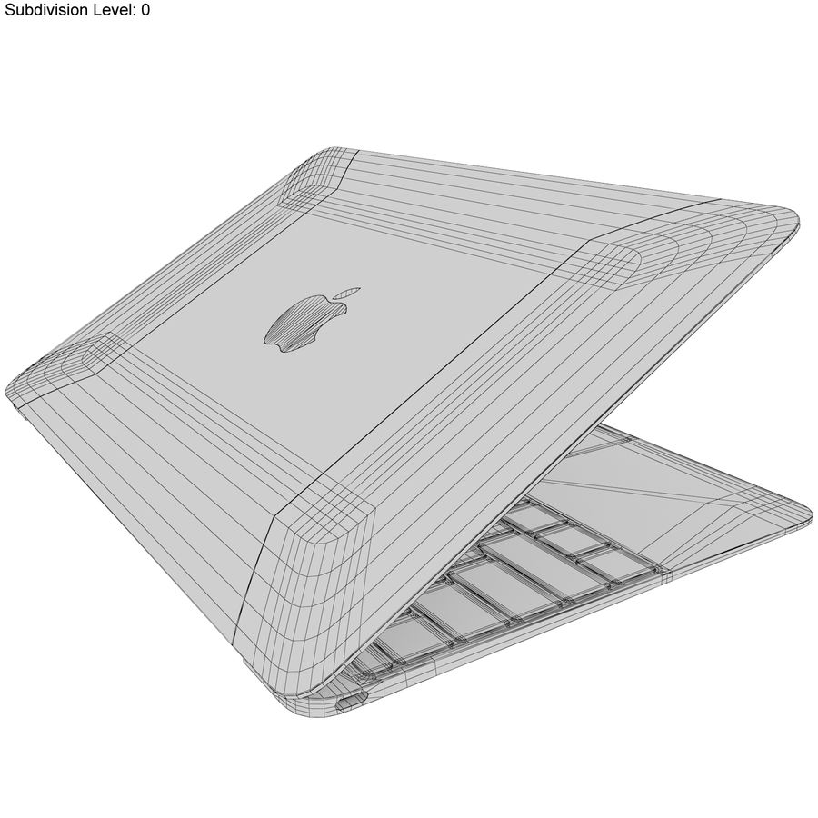 Apple MacBook 2015 Alla färger royalty-free 3d model - Preview no. 50