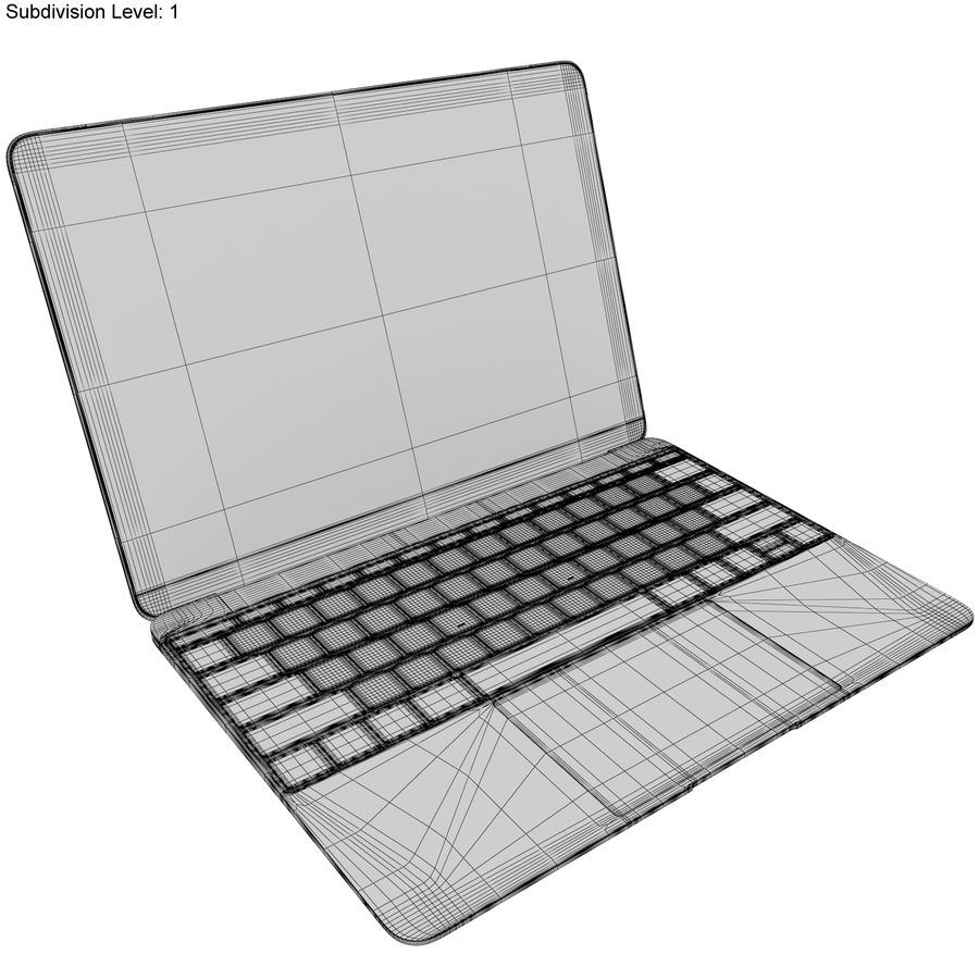 Apple MacBook 2015 Alla färger royalty-free 3d model - Preview no. 49
