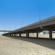 Autostrady na budowie pustyni 3d model