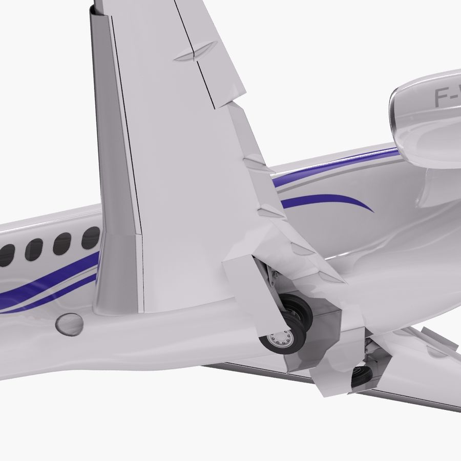 Dassault Falcon 2000LXS. Ożywiony. 2 royalty-free 3d model - Preview no. 8