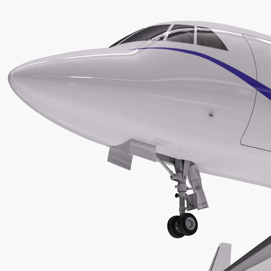 Dassault Falcon 2000LXS. Ożywiony. 2 royalty-free 3d model - Preview no. 12