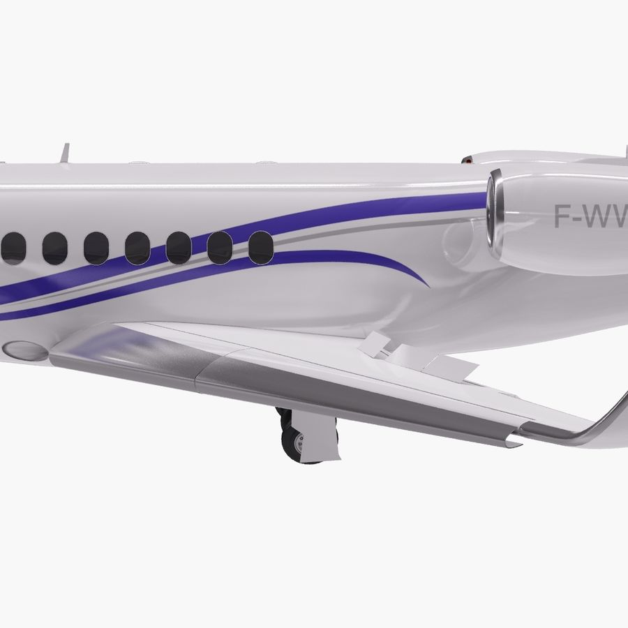 Dassault Falcon 2000LXS. Ożywiony. 2 royalty-free 3d model - Preview no. 5