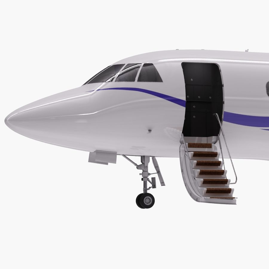 Dassault Falcon 2000LXS. Ożywiony. 2 royalty-free 3d model - Preview no. 2