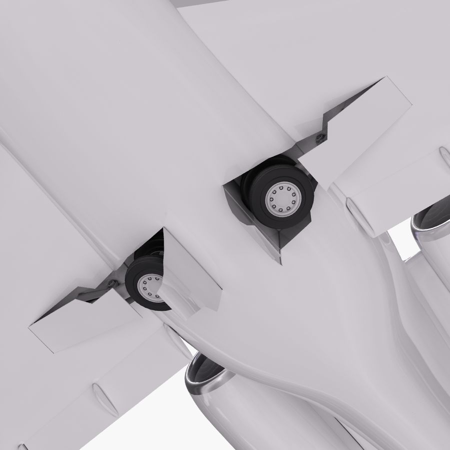 Dassault Falcon 2000LXS. Ożywiony. 2 royalty-free 3d model - Preview no. 11