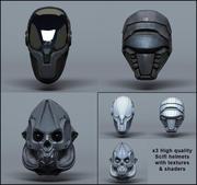 Scifi Helm - Kollektion 3d model
