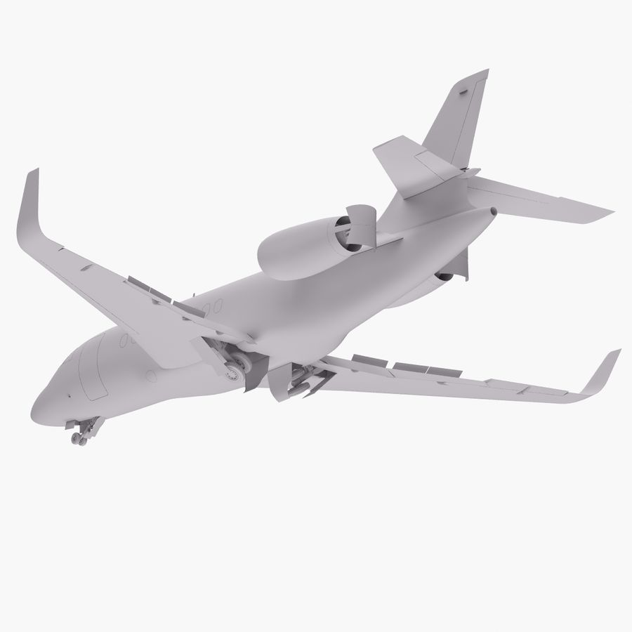 Dassault Falcon 2000LXS. Ożywiony. 4 royalty-free 3d model - Preview no. 23