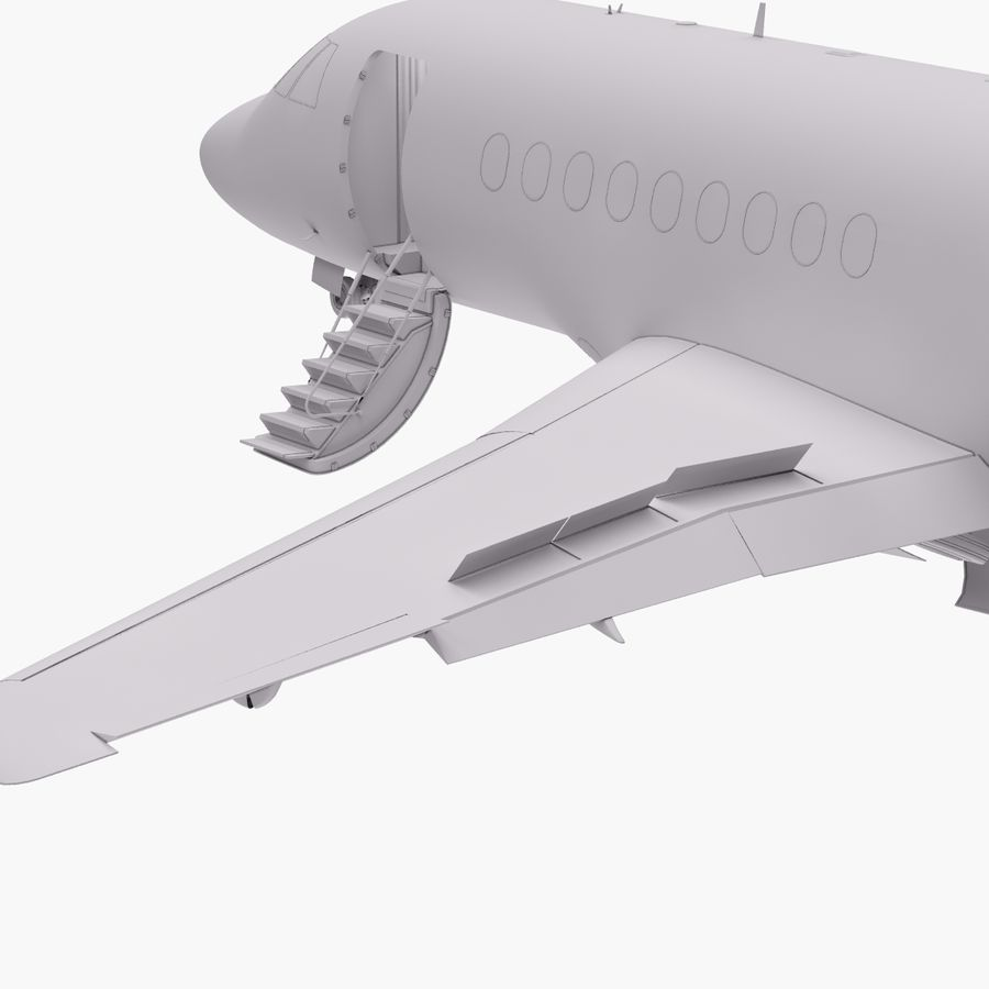 Dassault Falcon 2000LXS. Ożywiony. 4 royalty-free 3d model - Preview no. 21