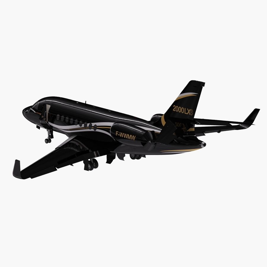 Dassault Falcon 2000LXS. Ożywiony. 4 royalty-free 3d model - Preview no. 4