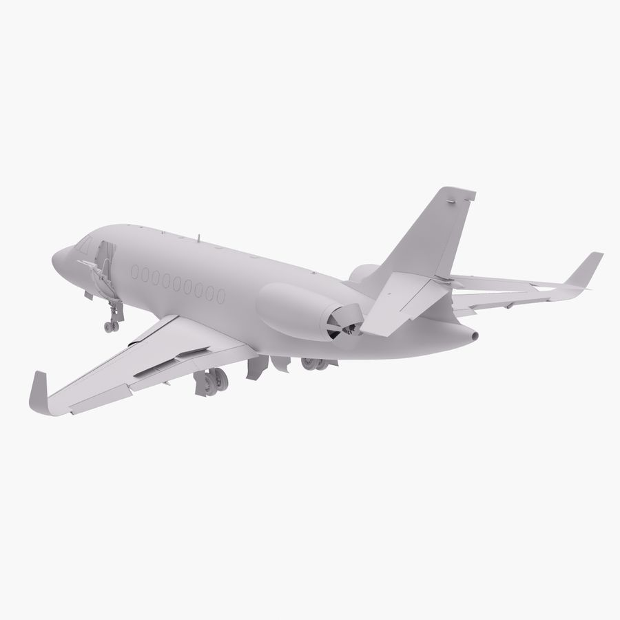 Dassault Falcon 2000LXS. Ożywiony. 4 royalty-free 3d model - Preview no. 16