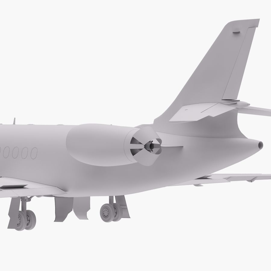 Dassault Falcon 2000LXS. Ożywiony. 4 royalty-free 3d model - Preview no. 15