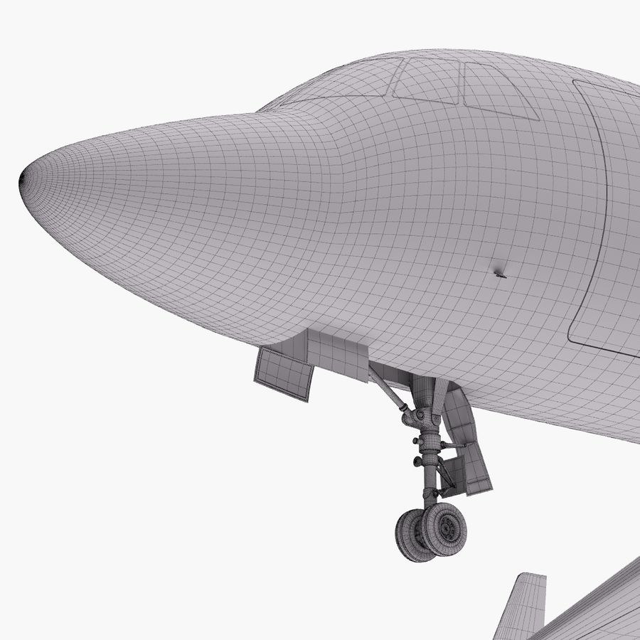Dassault Falcon 2000LXS. Ożywiony. 4 royalty-free 3d model - Preview no. 26