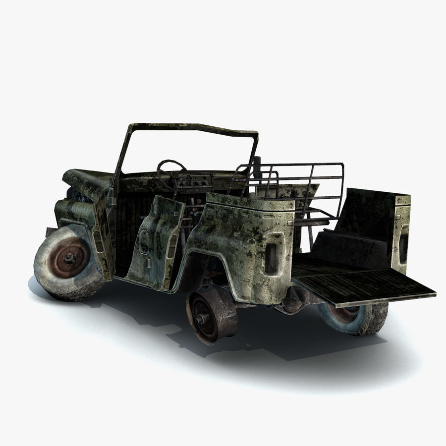 UAZ-3151 Militair verbrand royalty-free 3d model - Preview no. 8