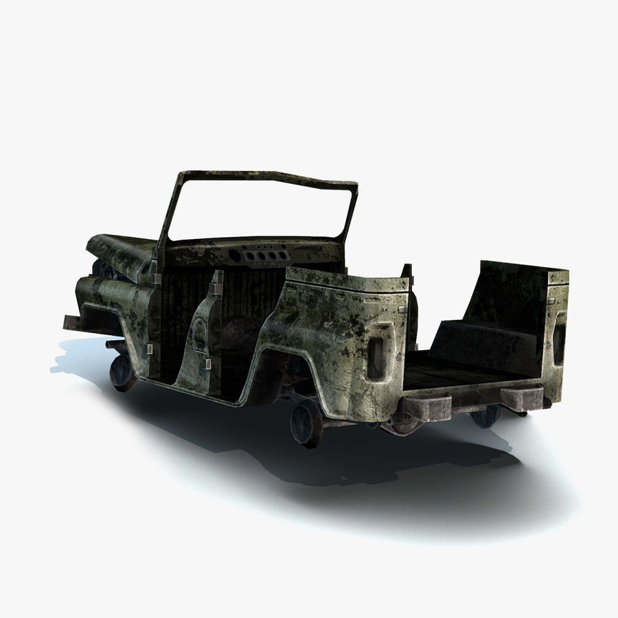 UAZ-3151 Militair verbrand royalty-free 3d model - Preview no. 9