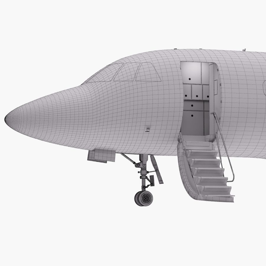 Dassault Falcon 2000LXS. Ożywiony. 5 royalty-free 3d model - Preview no. 37