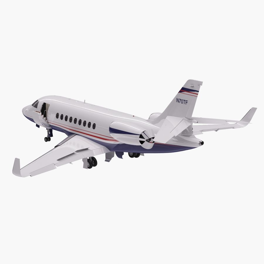 Dassault Falcon 2000LXS. Ożywiony. 5 royalty-free 3d model - Preview no. 4