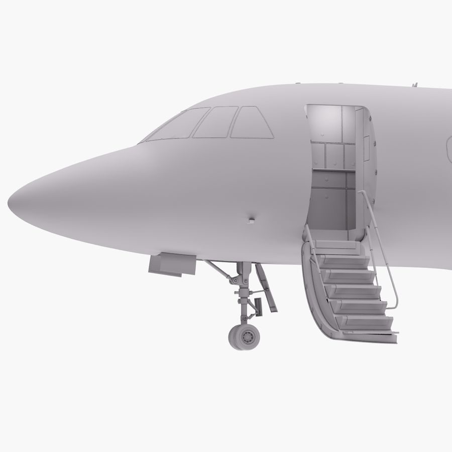 Dassault Falcon 2000LXS. Ożywiony. 5 royalty-free 3d model - Preview no. 25
