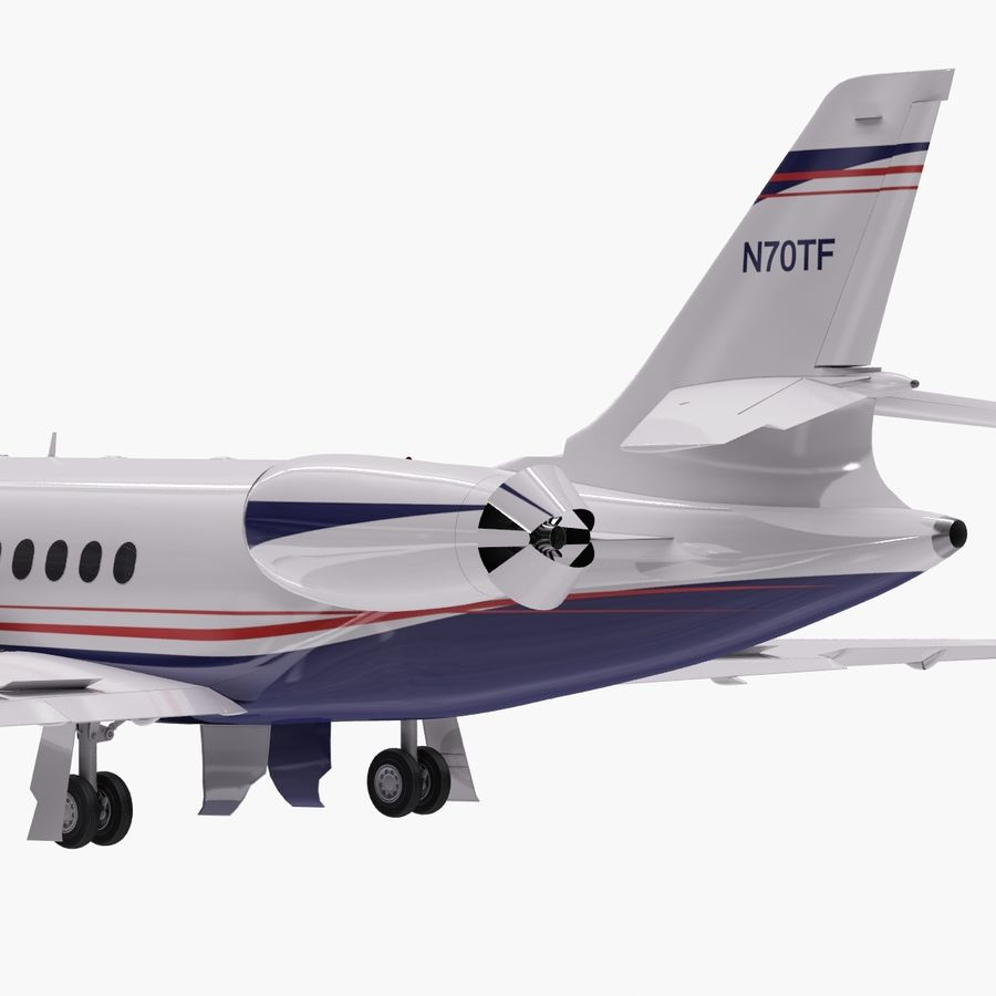 Dassault Falcon 2000LXS. Ożywiony. 5 royalty-free 3d model - Preview no. 3