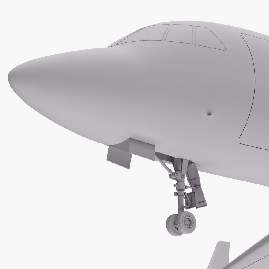 Dassault Falcon 2000LXS. Ożywiony. 5 royalty-free 3d model - Preview no. 14