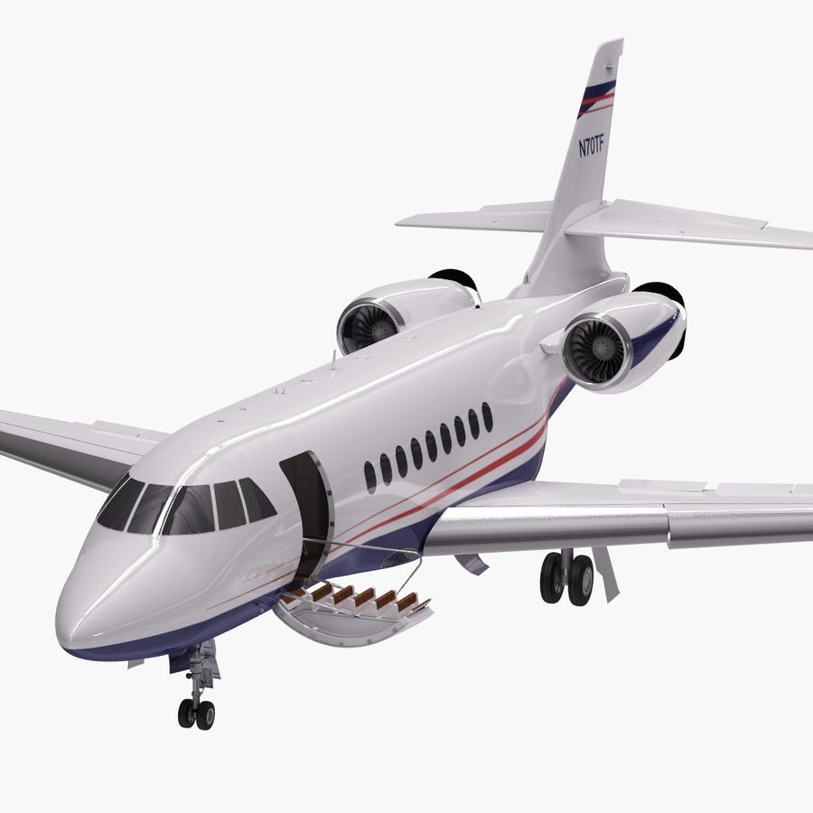 Dassault Falcon 2000LXS. Ożywiony. 5 royalty-free 3d model - Preview no. 12