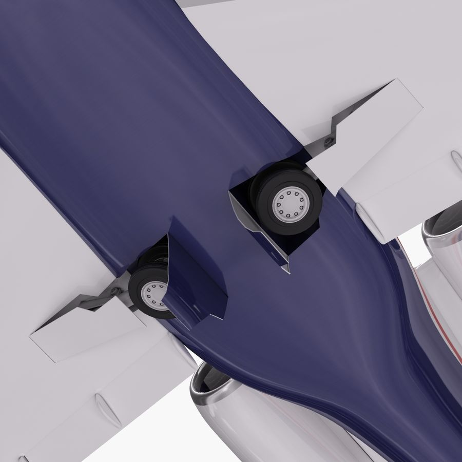 Dassault Falcon 2000LXS. Ożywiony. 5 royalty-free 3d model - Preview no. 10