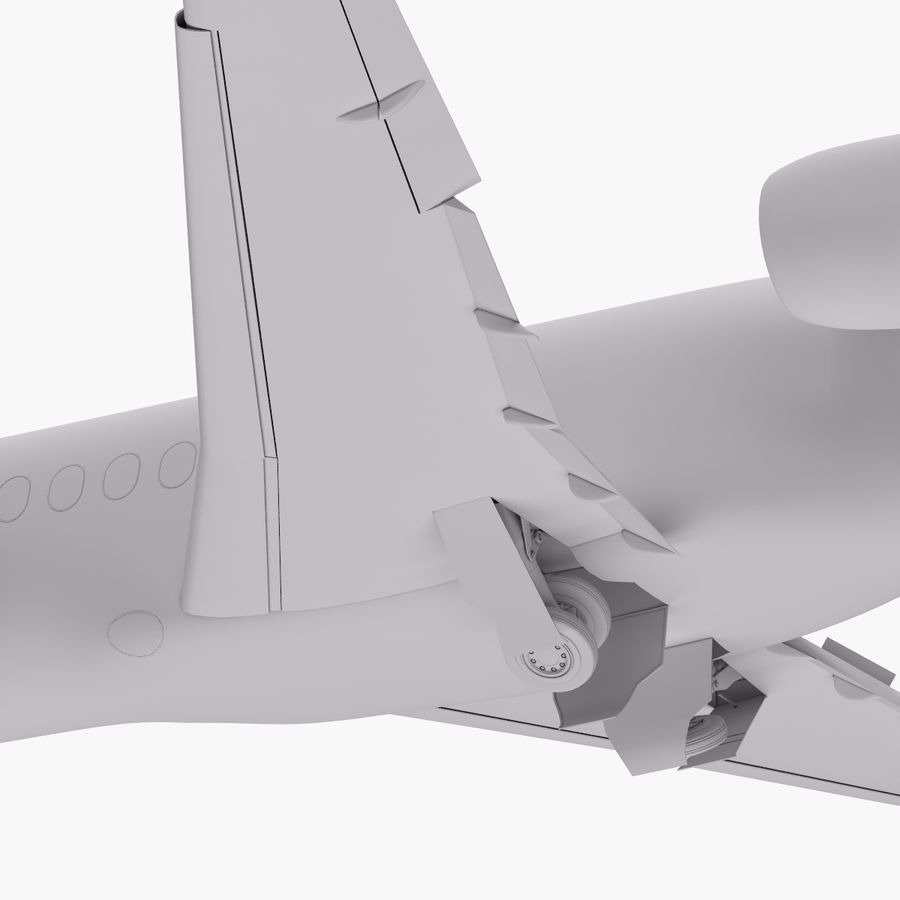 Dassault Falcon 2000LXS. Ożywiony. 5 royalty-free 3d model - Preview no. 20