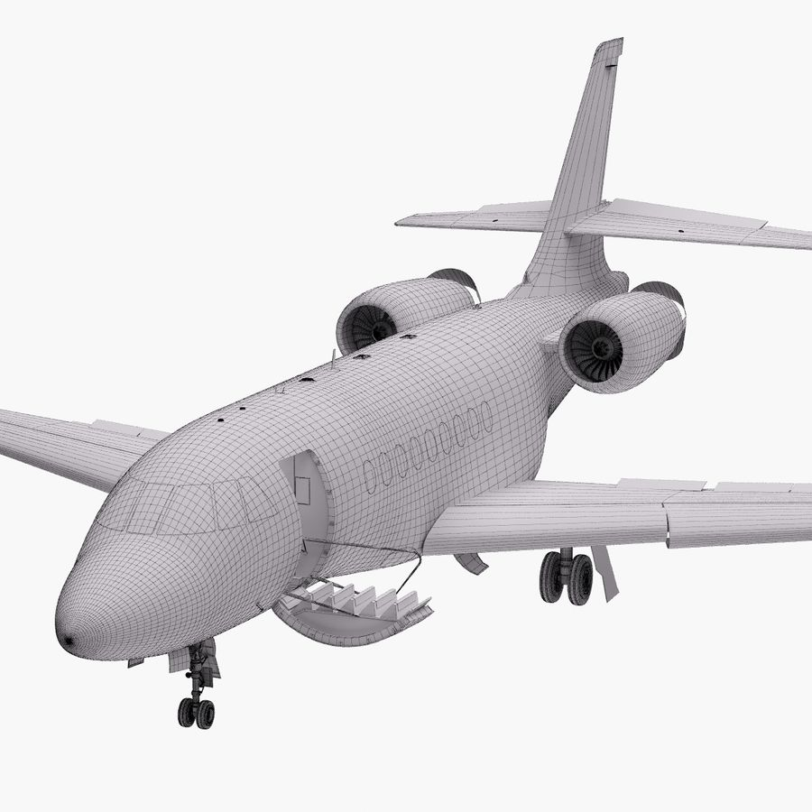 Dassault Falcon 2000LXS. Ożywiony. 5 royalty-free 3d model - Preview no. 36