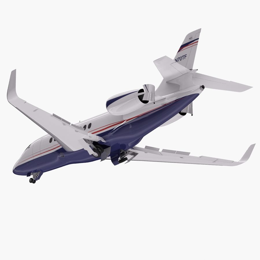 Dassault Falcon 2000LXS. Ożywiony. 5 royalty-free 3d model - Preview no. 11