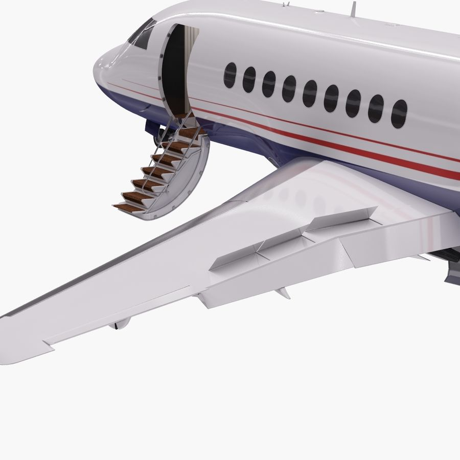 Dassault Falcon 2000LXS. Ożywiony. 5 royalty-free 3d model - Preview no. 9