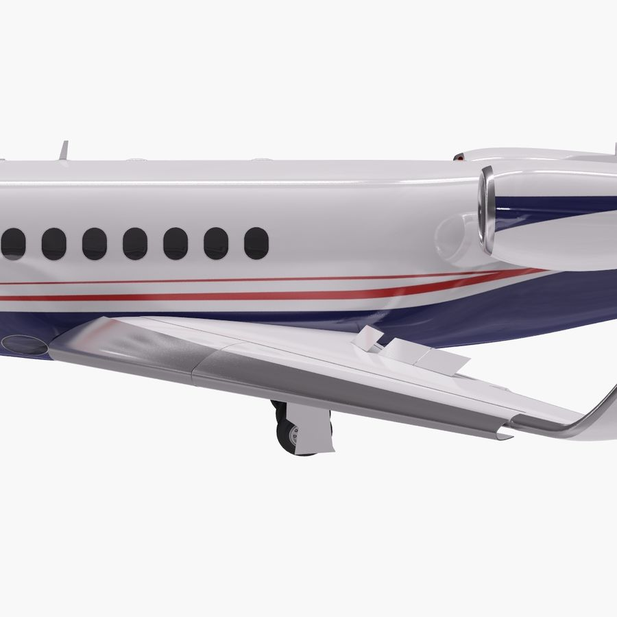 Dassault Falcon 2000LXS. Ożywiony. 5 royalty-free 3d model - Preview no. 5