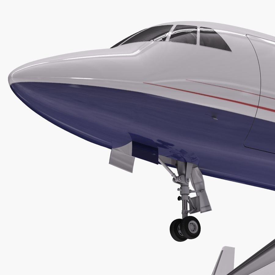Dassault Falcon 2000LXS. Ożywiony. 5 royalty-free 3d model - Preview no. 2