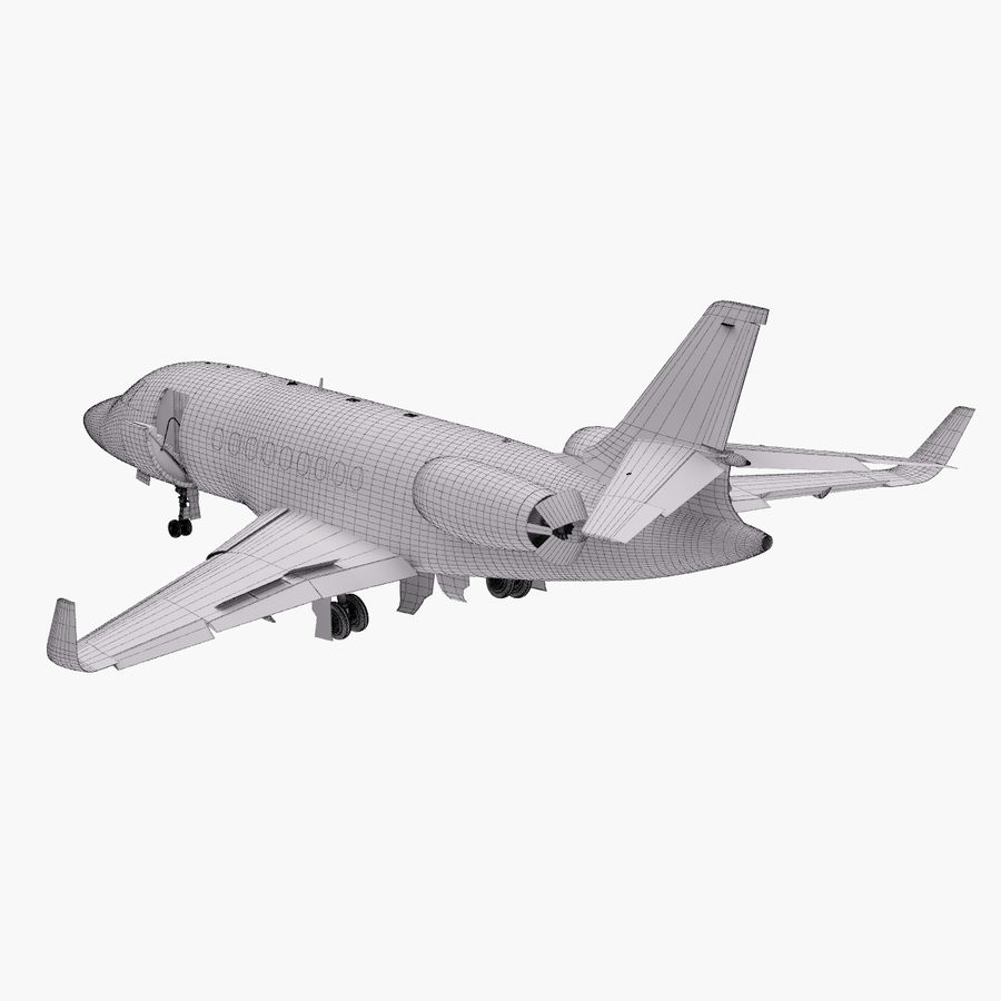 Dassault Falcon 2000LXS. Ożywiony. 5 royalty-free 3d model - Preview no. 28